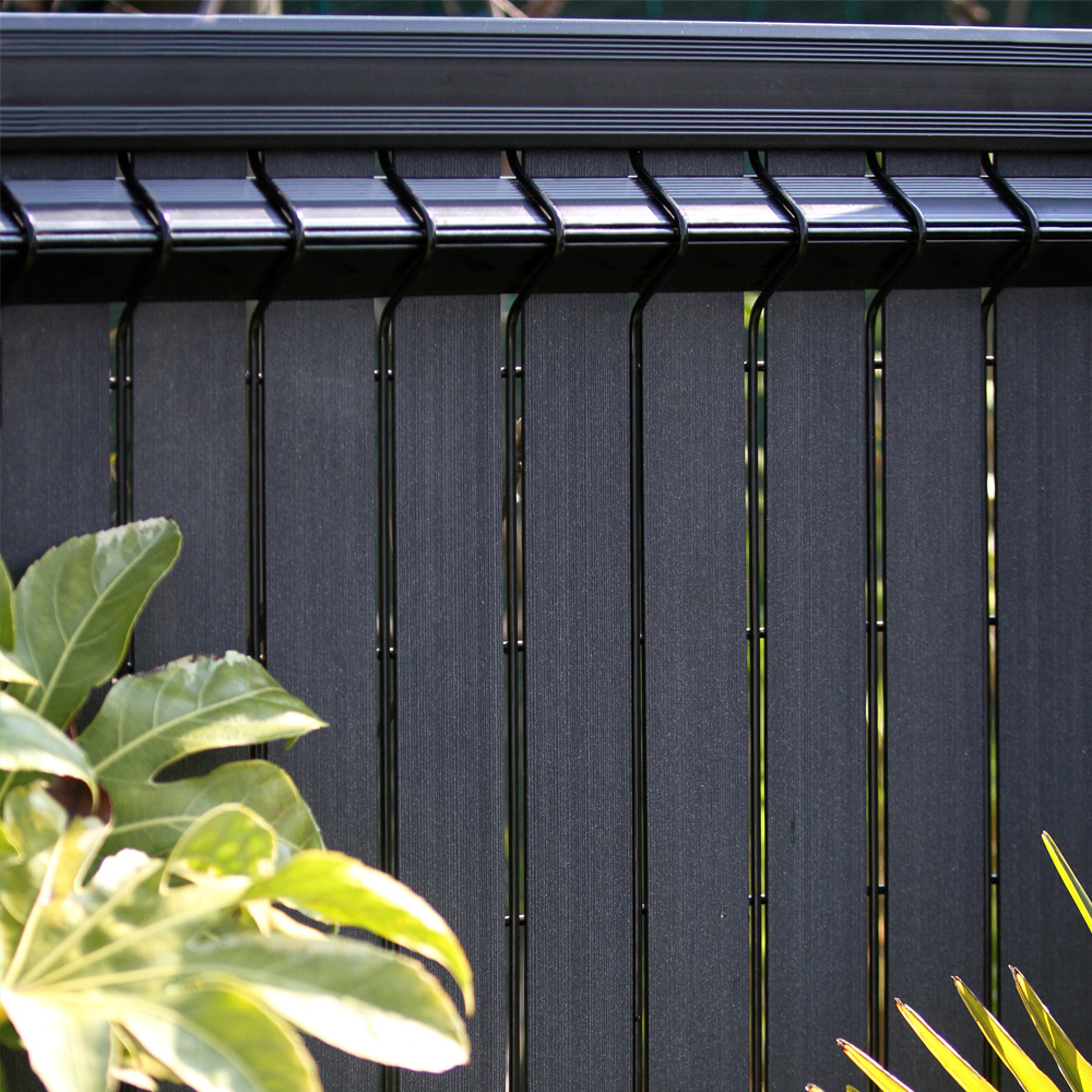 fensoplate composite Fensoplate Composite Lamel 43mm H:163 cm Graphite Black
