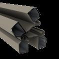 Duo Fuse Paal 82mm ALU L:300cm Stone Grey scharnierpaal