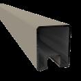 Duo Fuse U-profiel ALU L:200cm Graphite Black