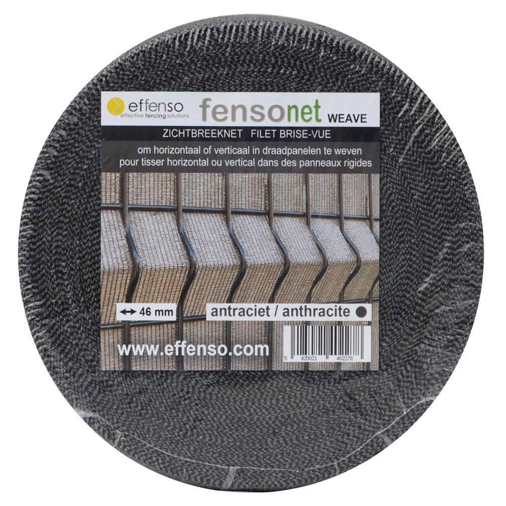 fensonet FENSONET WEAVE 55 mm ANTRACIET L:50m