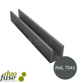 Duo Fuse U-profiel 28mm ALU L:202cm graphite black