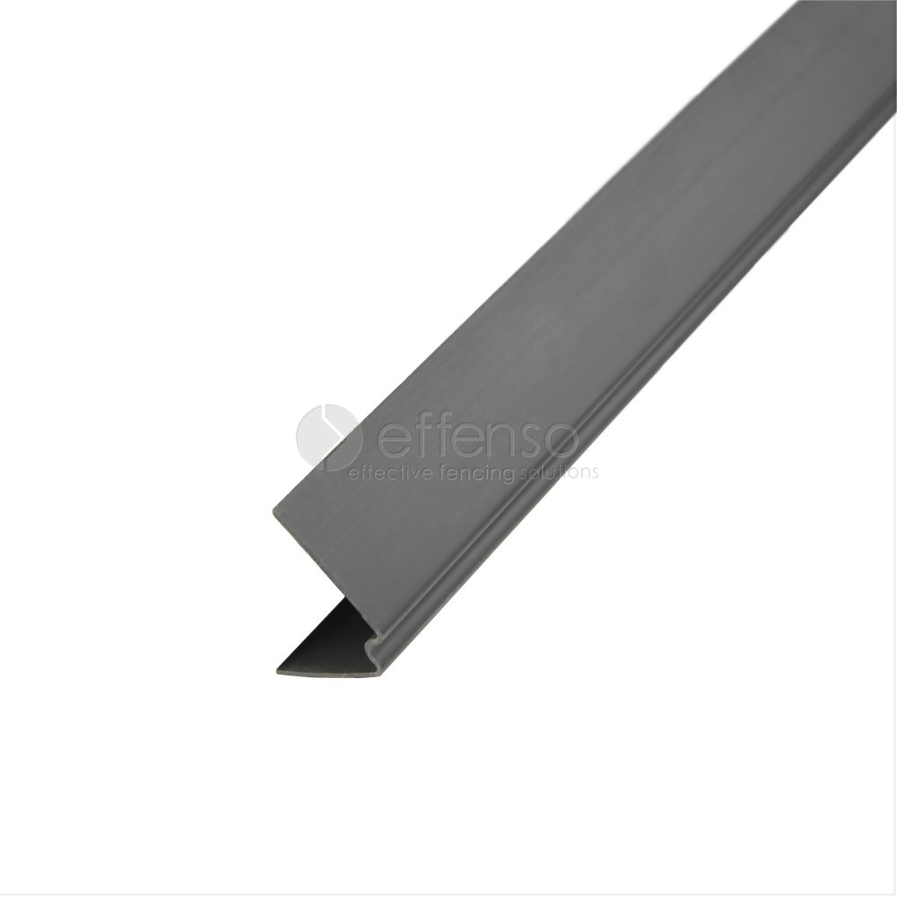 V-profiel 49x27 Zwart 9005 L:250cm