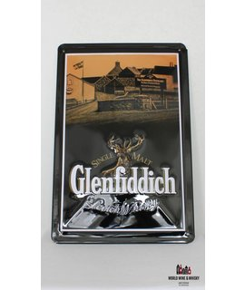 Glenfiddich Iron Glenfiddich billboard plate sign