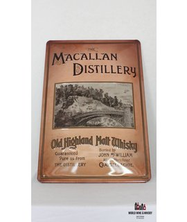 Macallan Iron Macallan billboard plate sign