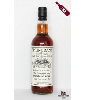 Springbank Springbank 9 Year Old 1996 2005 Members of Scotchunlimited 56.7%