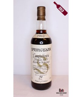 Springbank Springbank 29 Years Old 1962 1992 White Label Big Golden S 46%