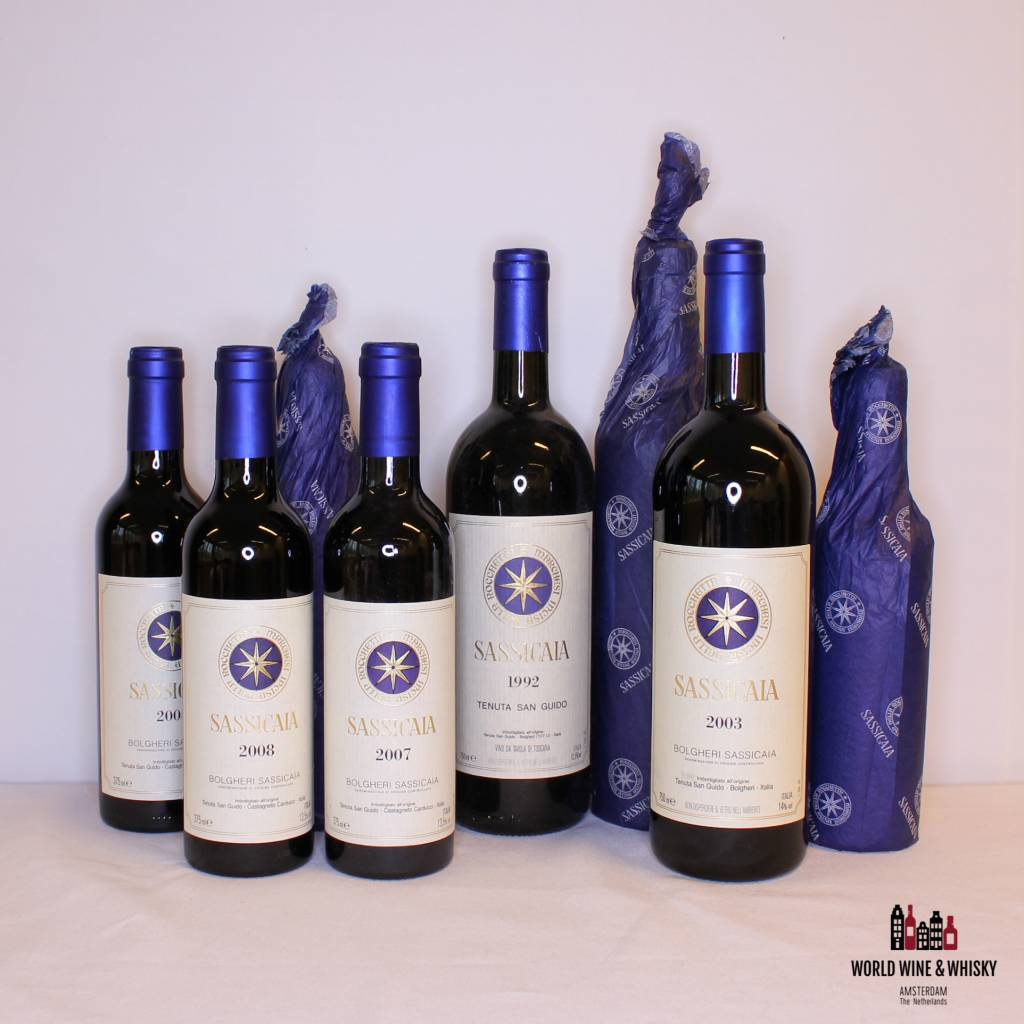 New arrivals: Tenuta San Guide - Sassicaia bottles.