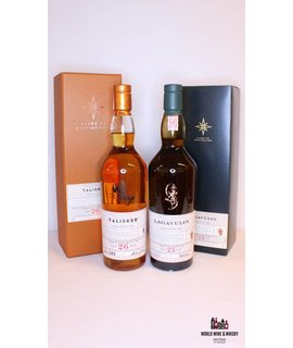 Lagavulin Lagavulin 23 Years Old 1992 2016 55.7% and Talisker 26 Years Old 1990 2016 53.3% (set)