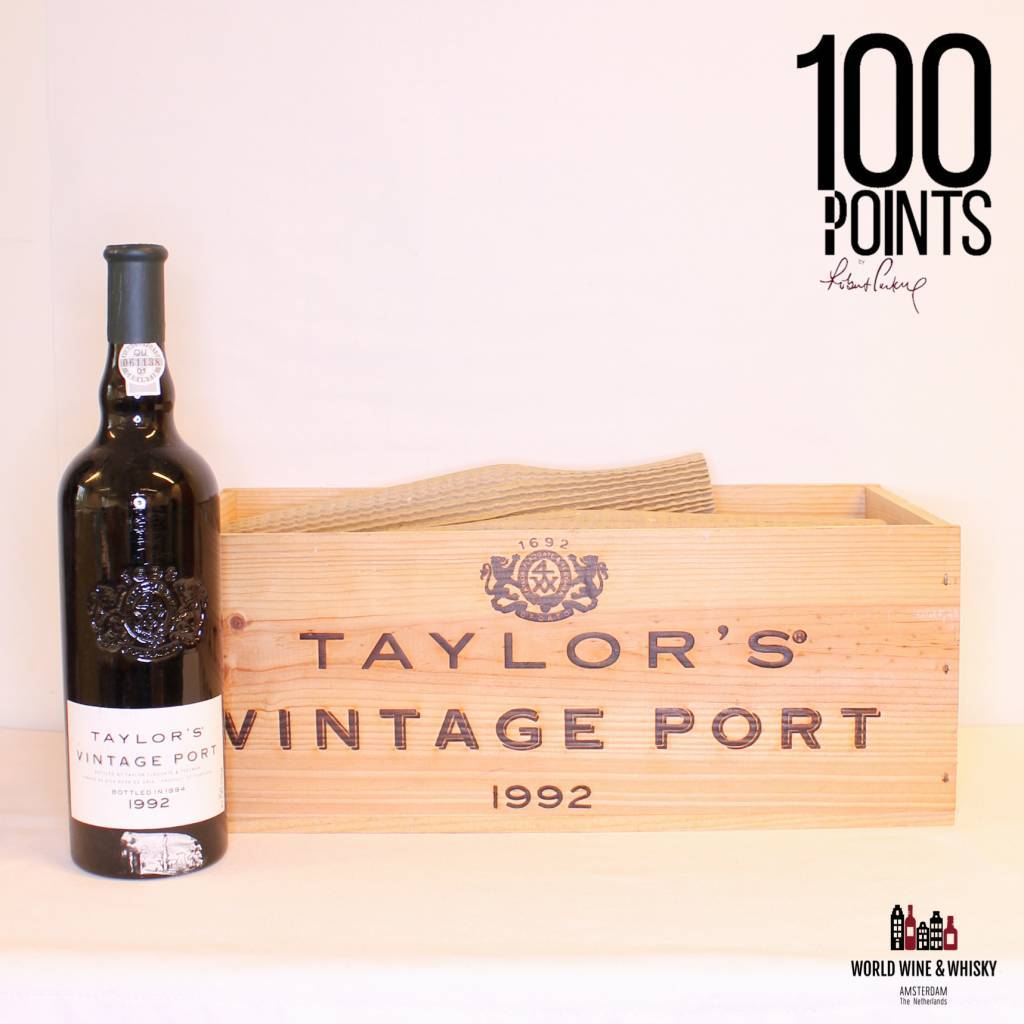 Best of the best Vintage Port arrived: Taylor's Fladgate Vintage Port 1992 - 100 Parker Points (in OWC).