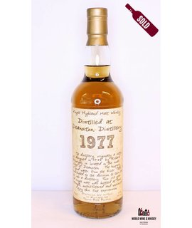 Deanston Deanston 33 Years Old 1977 2010 Handwritten Label - Thosop BVBA 43%