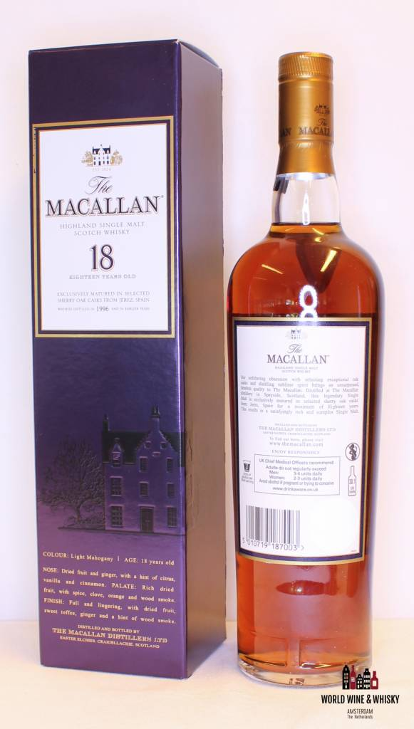 Macallan Macallan 18 Years Old 1996 2014 Sherry Oak Casks 43%