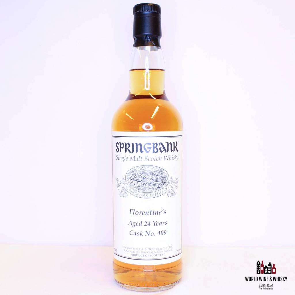 De Springbank 24 Years Old 1993 2017 Cask 409 Florentine's 49% Private Bottling