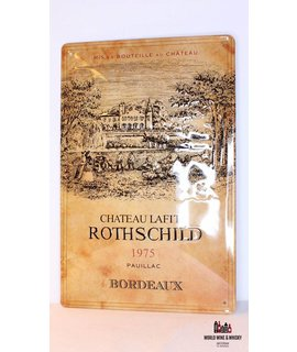 Chateau Lafite Rothschild Iron Chateau Lafite Rothschild 1975 billboard plate sign