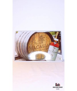 Macallan Iron Macallan 25 Years Old Single Malt Whisky billboard plate sign (cask)