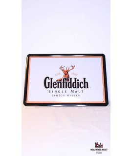 Glenfiddich IJzeren Glenfiddich Pure Malt Scotch Whisky reclamebord (wit)