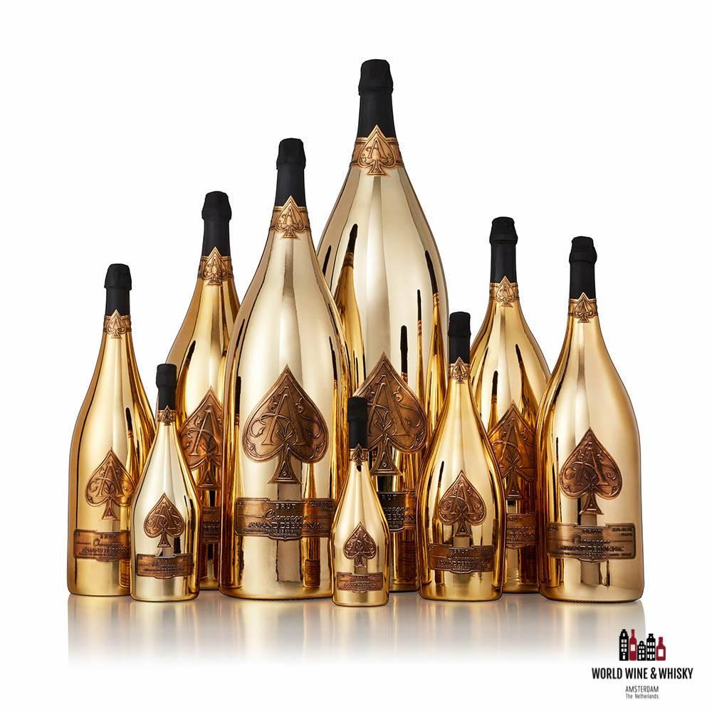 Armand de Brignac Gold in alle formaten (tot wel een 30 liter fles) te koop