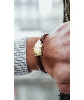 Resident Luxueuze gouden Amsterdam canal house armband sieraad - Resident