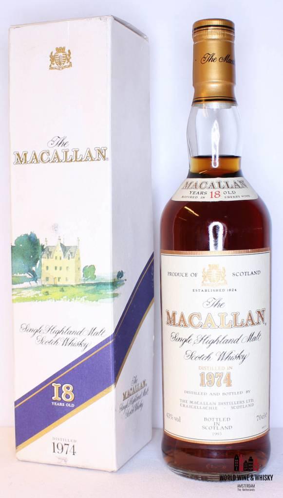 Macallan Macallan 18 Years Old 1974 1993 Sherry Wood Old Bottling 43%