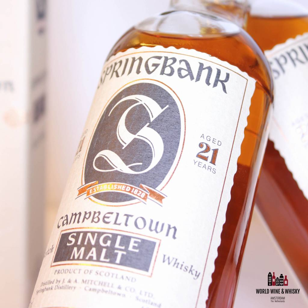 Springbank 21 Years Old.