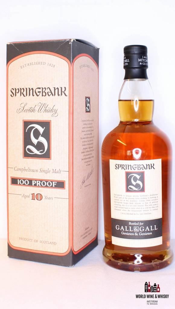 Springbank Springbank 10 Years Old 100 Proof 57% (Dutch Bottling)