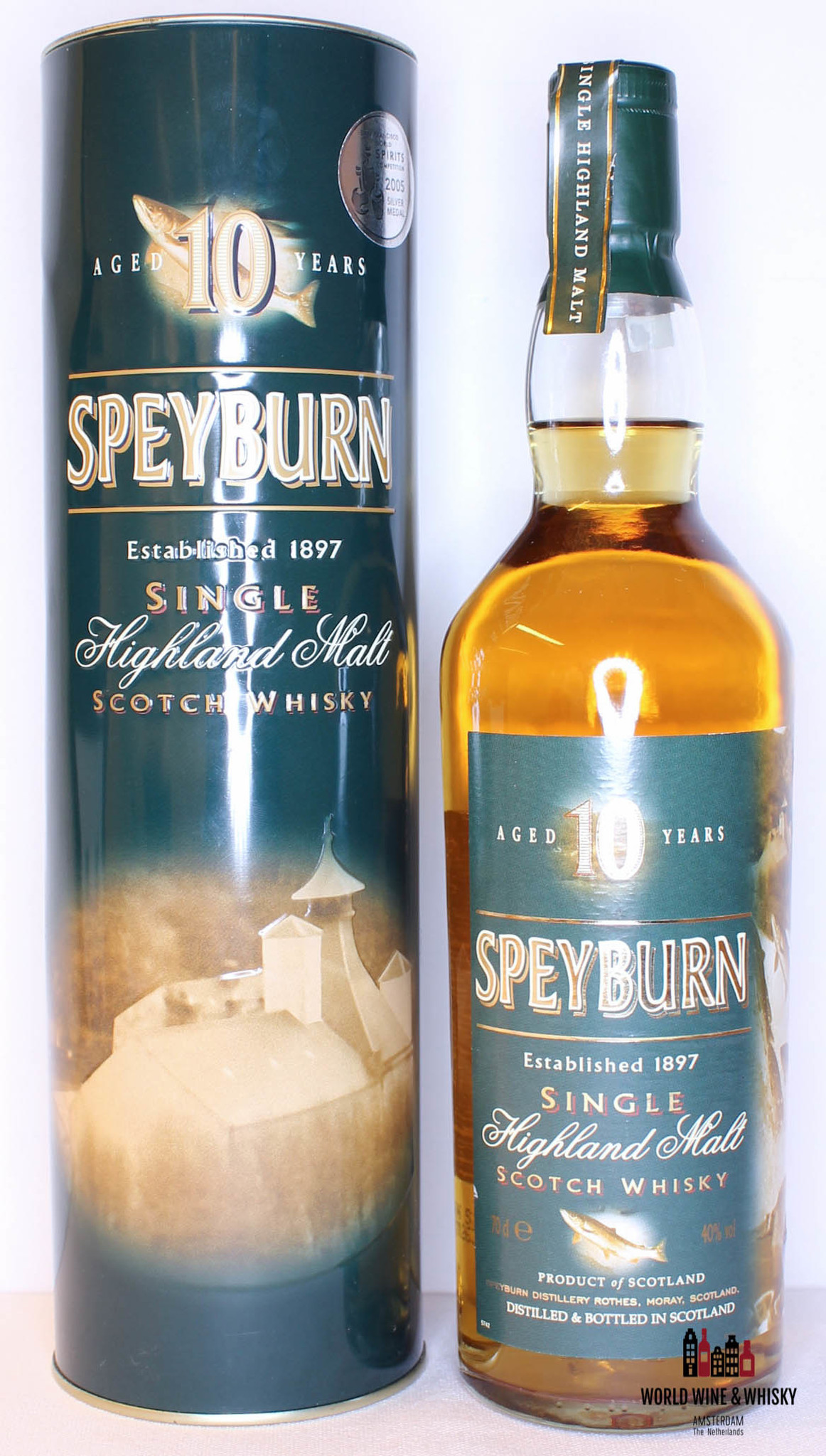 Speyburn 10 Years Old Fish Edition 40 700ml At World Wine Whisky World Wine Whisky