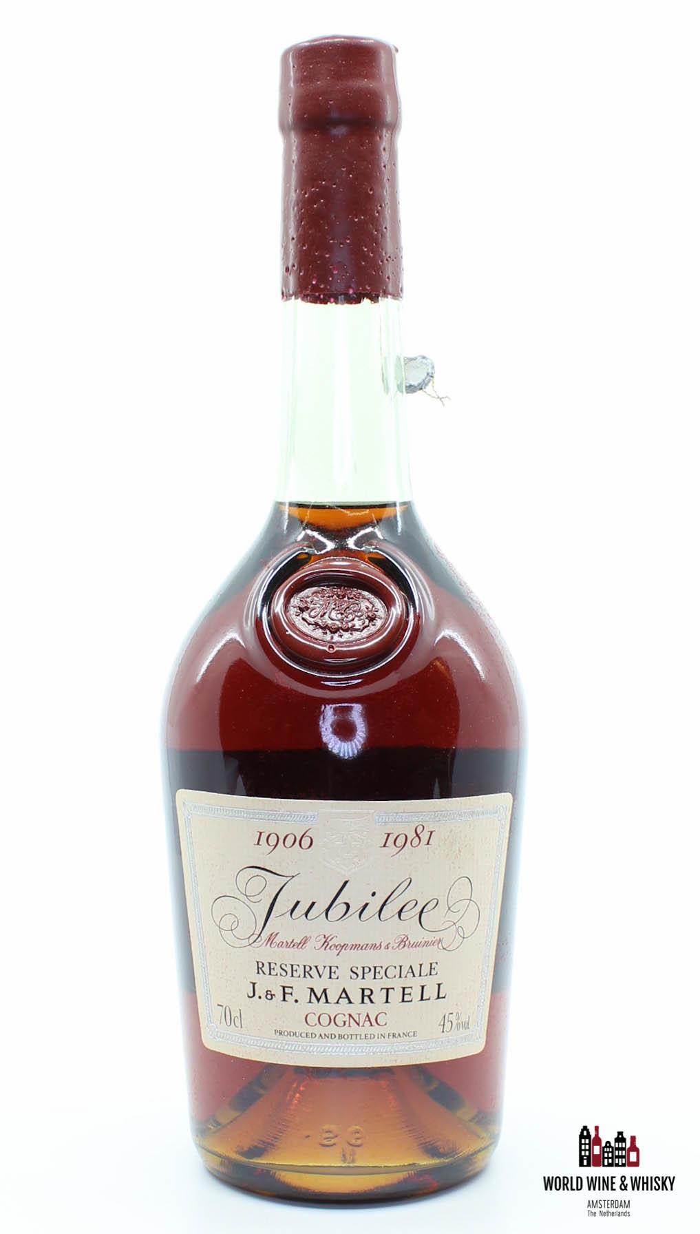 J & F Martell J & F Martell 1906 1981 Reserve Speciale - Jubilee Martell Koopmans & Bruinier Cognac 45%