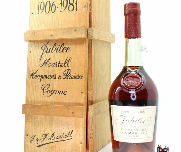 J & F Martell 1906 1981 Reserve Speciale - Jubilee Martell Koopmans & Bruinier Cognac 45%