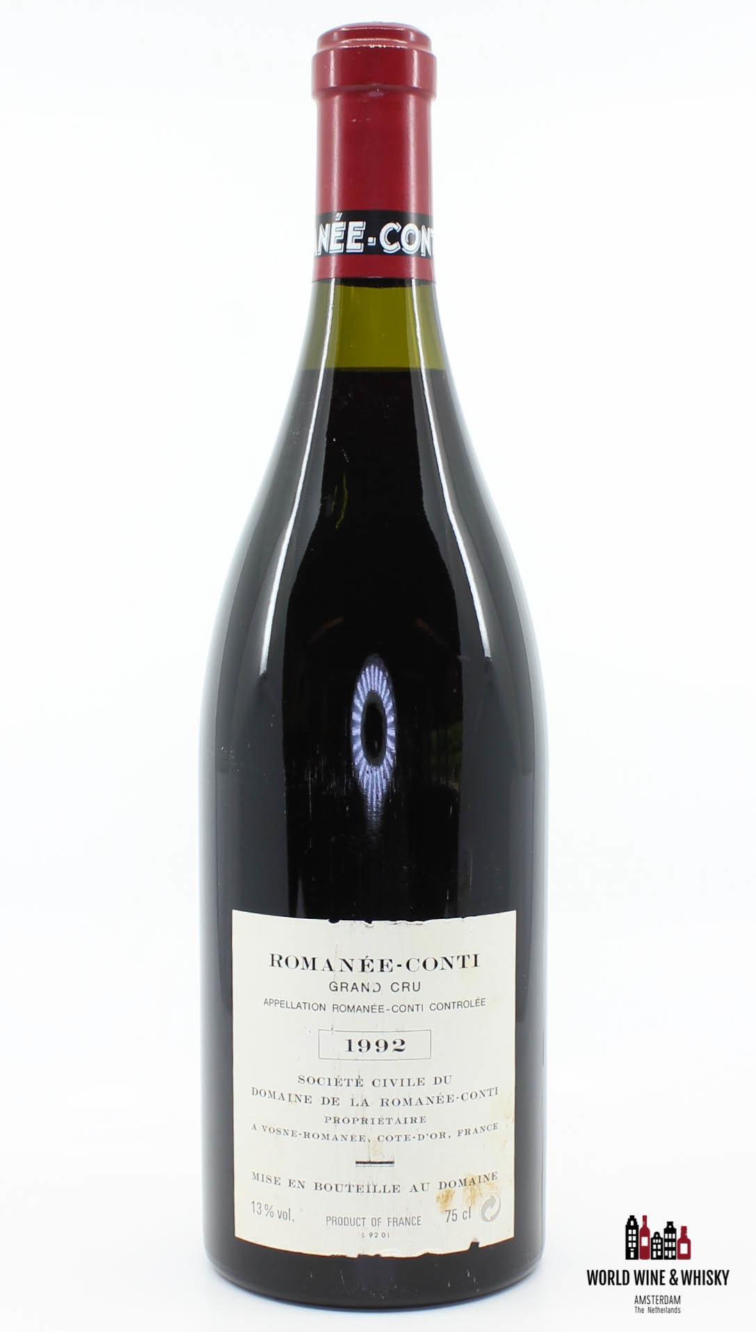Domaine de la Romanée Conti Domaine de la Romanée-Conti (DRC) - Romanée-Conti 1992 - Inspected by Chai Consultant/WineFraud