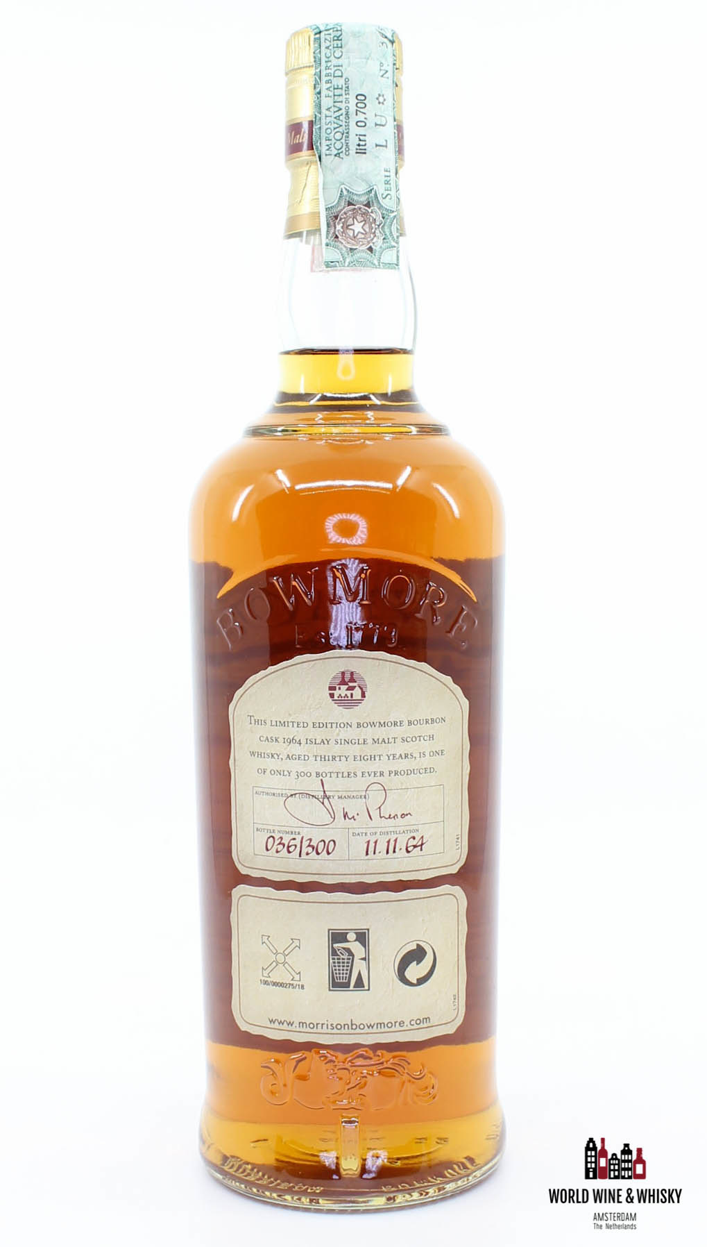 Bowmore Bowmore 38 Years Old 1964 2003 Bourbon Cask - The Trilogy Series 43.2%