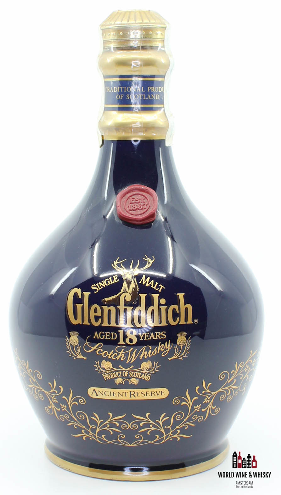 Glenfiddich Glenfiddich 18 Years Old - Ancient Reserve - Blue Decanter 43%