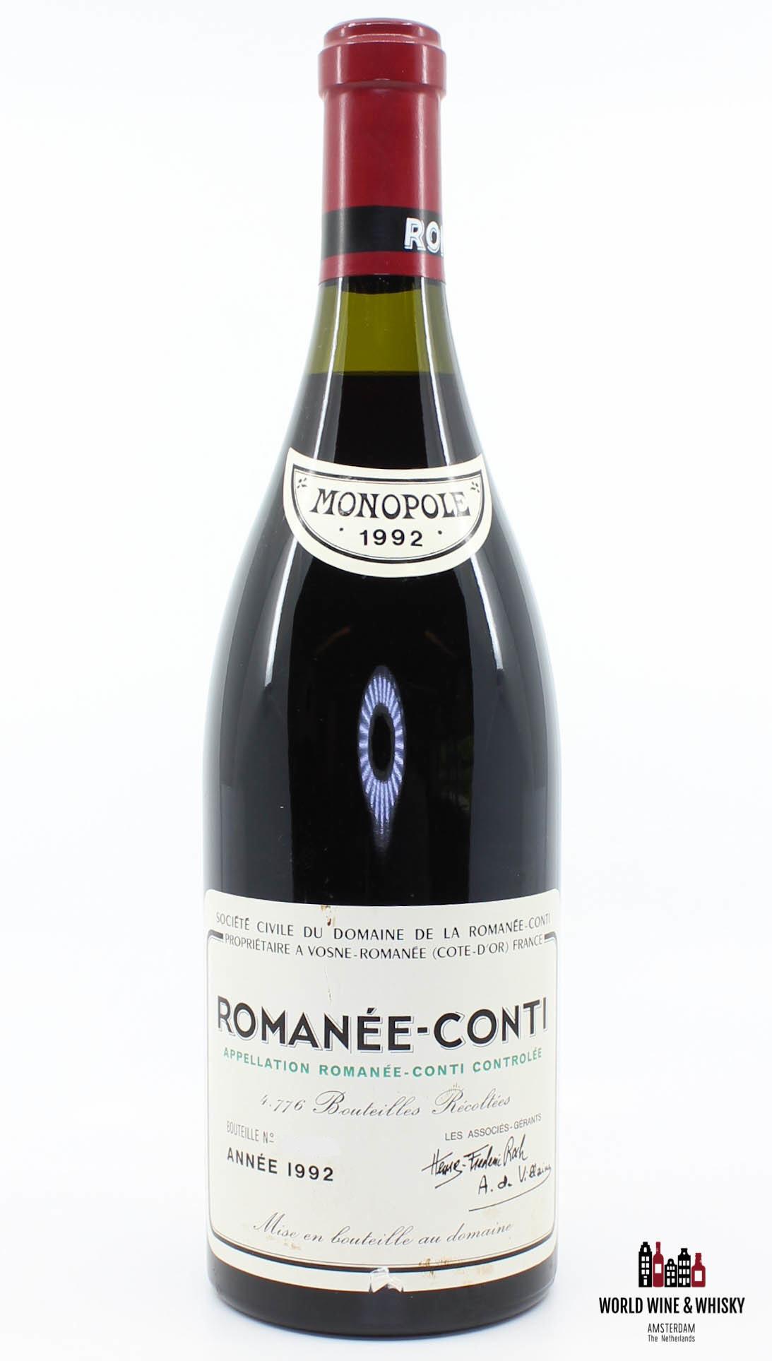 Domaine de la Romanée Conti Domaine de la Romanée Conti Romanée-Conti 1992 (DRC)
