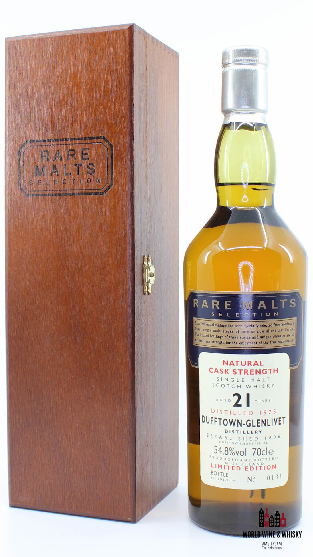 Dufftown Dufftown-Glenlivet 21 Years Old 1975 1997 Rare Malts Selection 54.8% (in wooden box)