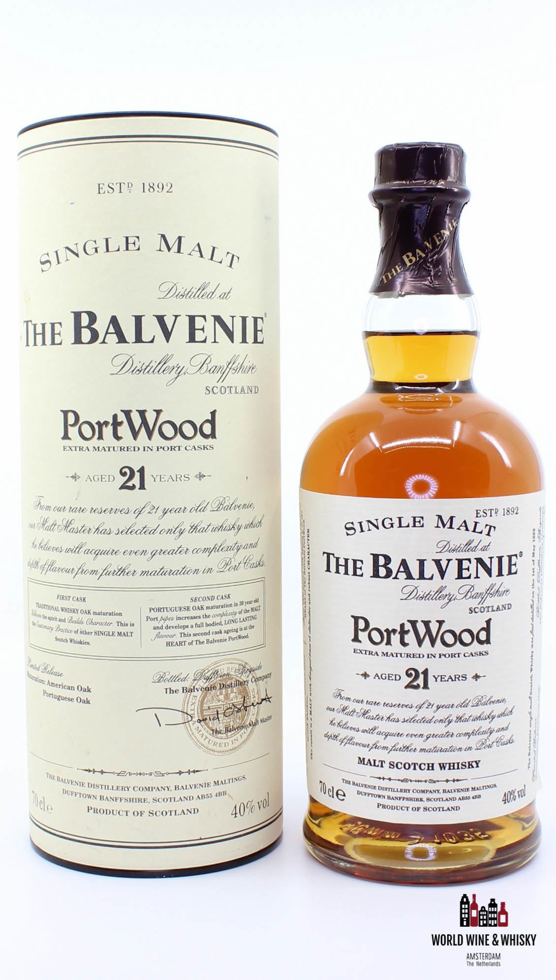 Balvenie The Balvenie 21 Years Old PortWood (Port Casks) 40%