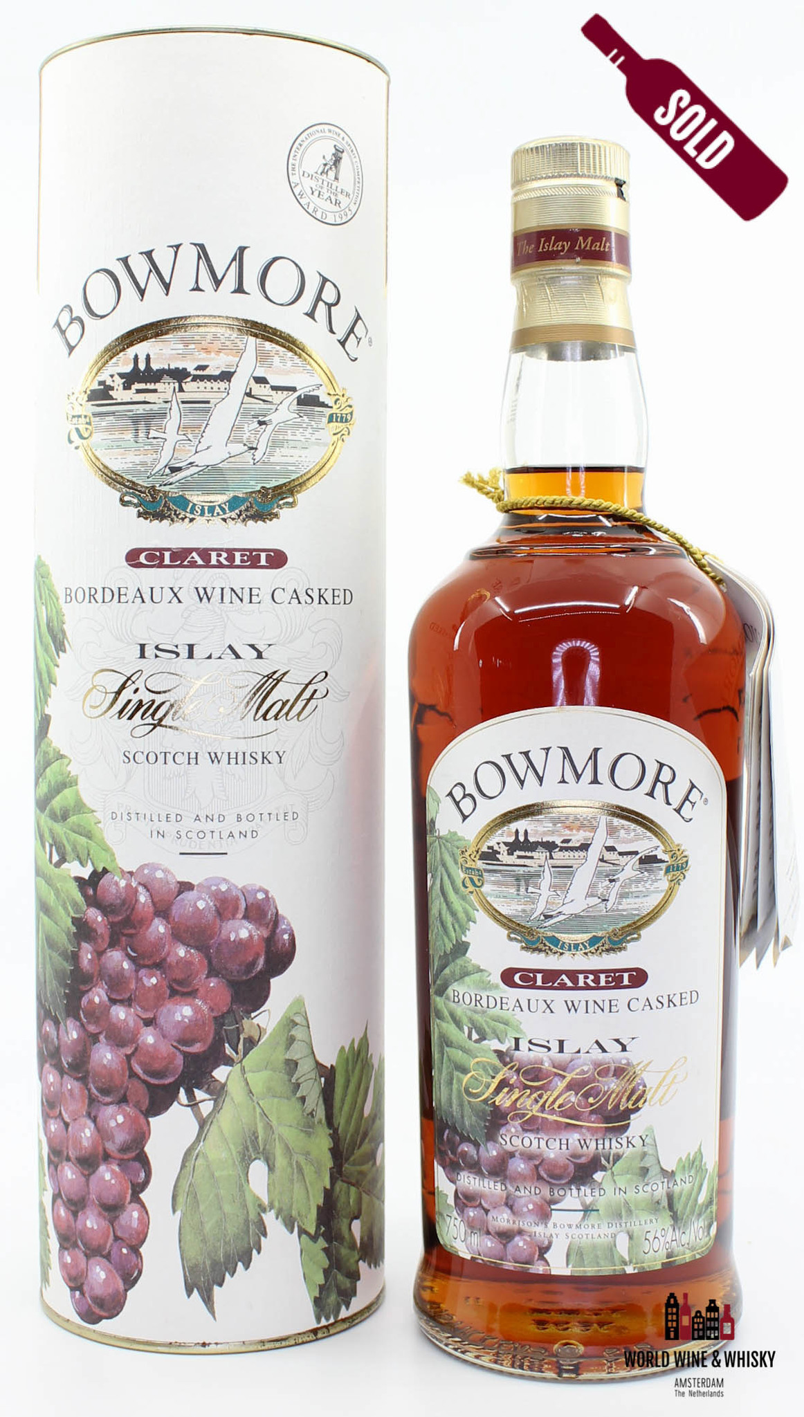 Bowmore Bowmore 1999 Claret - Bordeaux Wine Casked 56% (750ml)