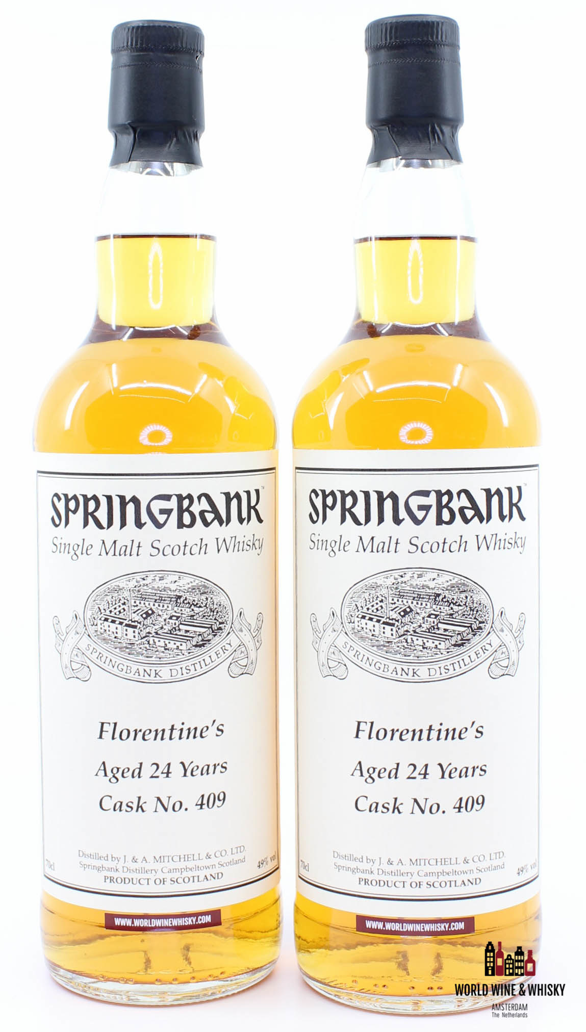 Springbank Springbank 24 Years Old 1993 2017 Private Bottling Cask 409 Florentine's 49% - Twin deal