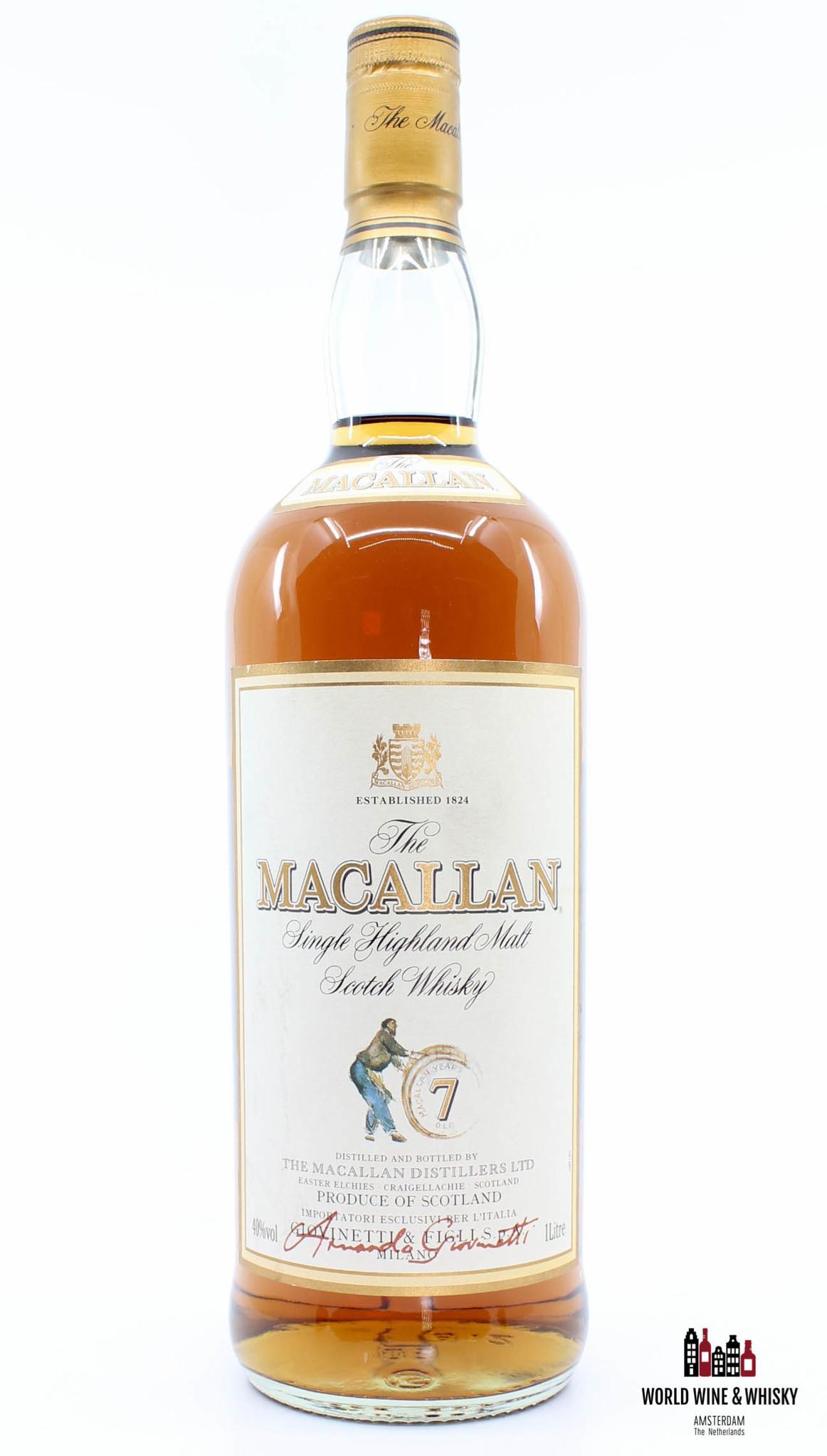 Macallan Macallan 7 Years Old Sherry Oak -  Giovinetti & Figli Import 40% 1 Litre (1000 ml)