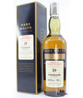 Rosebank Rosebank 20 Years Old 1981 2002 Rare Malts Selection 62.3% in cardboard case (Decommissioned)