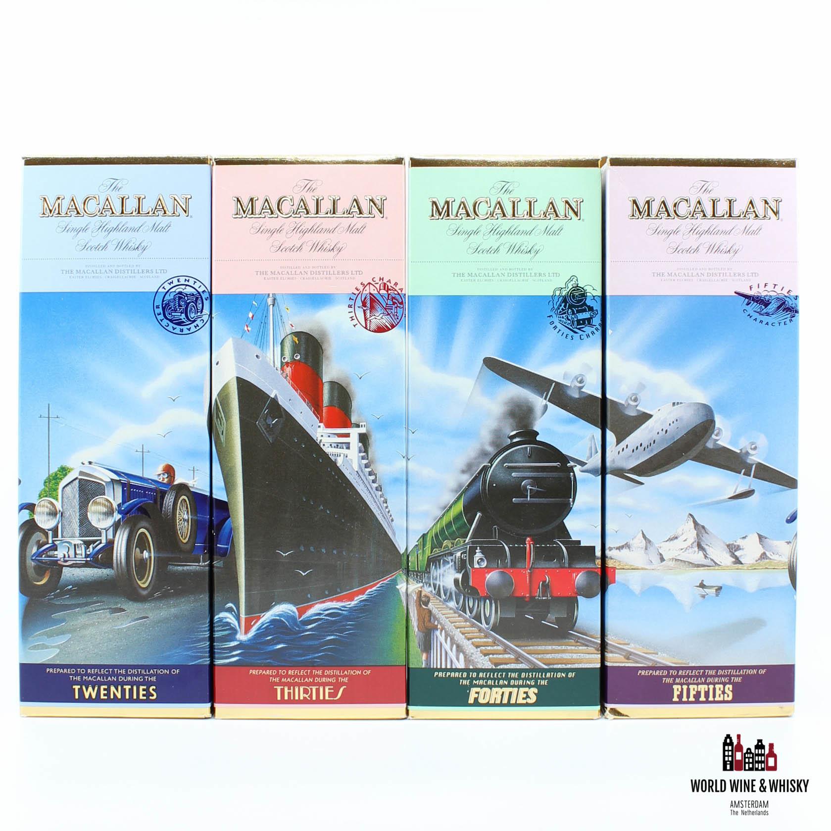 Macallan Macallan Travel Series 1920, 1930, 1940 & 1950 500ml 40% (full set)