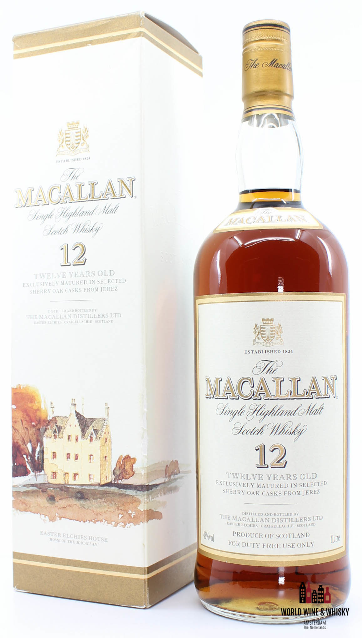 Macallan Macallan 12 Years Old Sherry Casks - Duty Free use only 43% 1 litre (1000 ml)