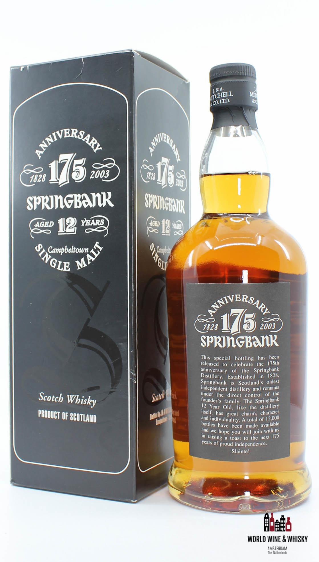 Springbank Springbank 12 Years Old 175th Anniversary 1828-2003 46%