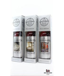 Springbank Hazelburn 8 Years Old 1997 2005 First Edition - Barrel, Malting and Stills set 46% 700 ml (full set)