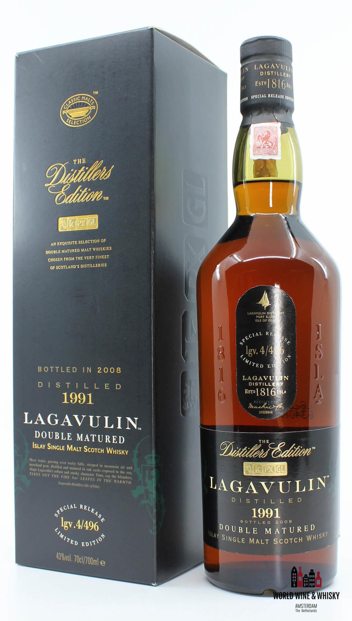 Lagavulin Lagavulin 17 Years Old 1991 2008 - The Distillers Edition - lgv.4/496 43% (700 ml)