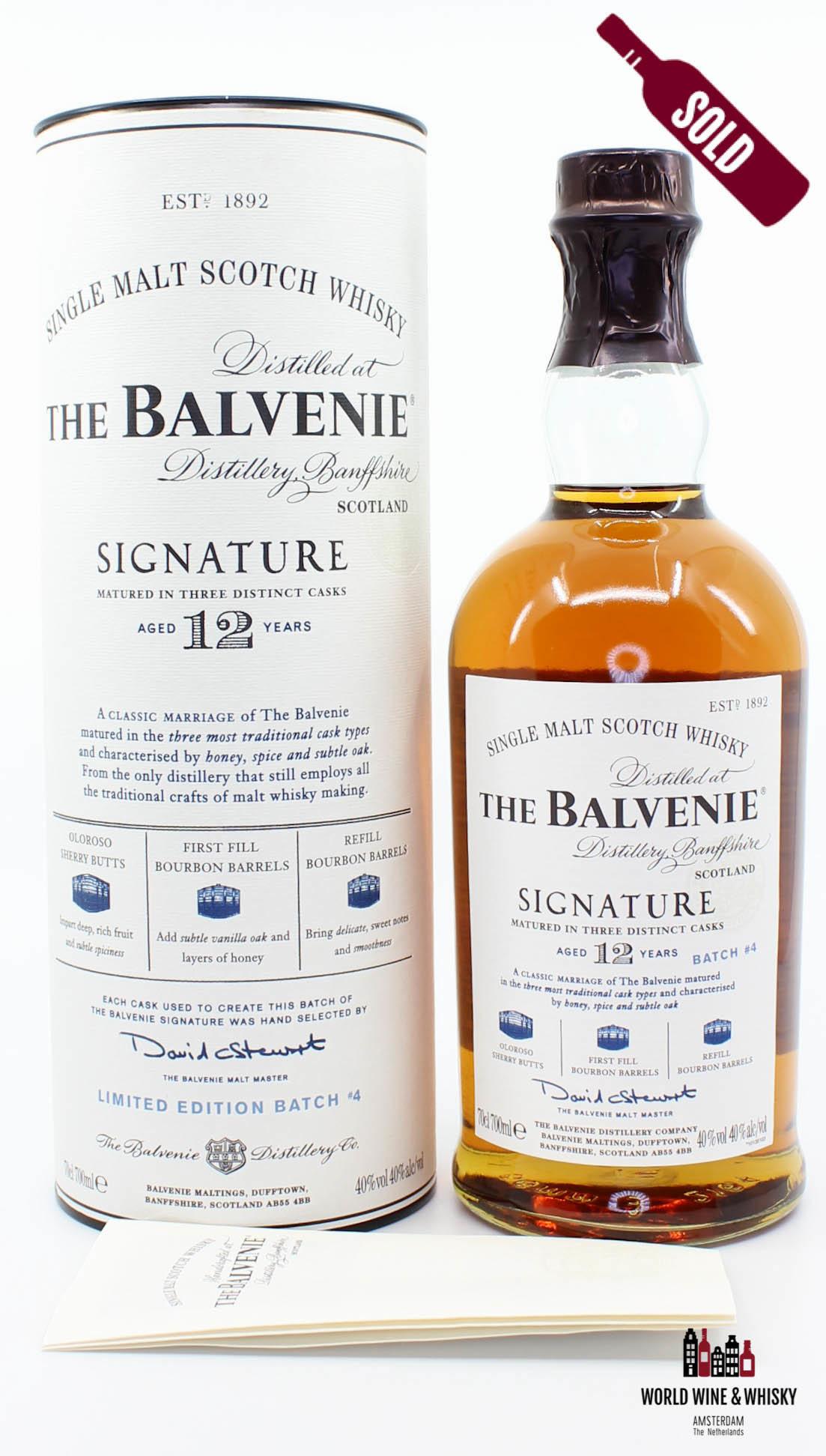 Balvenie Balvenie 12 Years Old Signature Batch #4 - Three Distinct Casks 40%