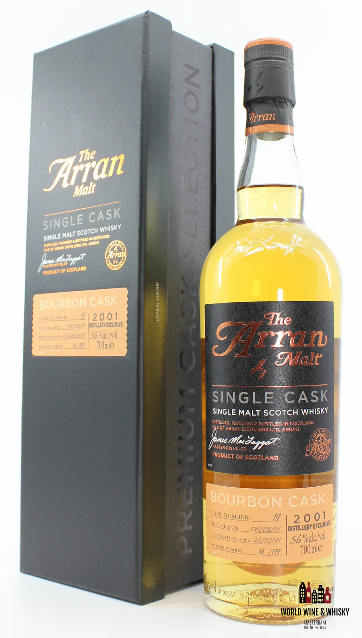 Arran Arran 16 Years Old 2001 2017 Cask 19 Bourbon Cask - Distillery Exclusive 56%