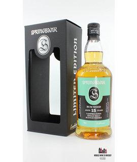 Springbank Springbank 15 Years Old Rum Wood 2003 2019 51.0%