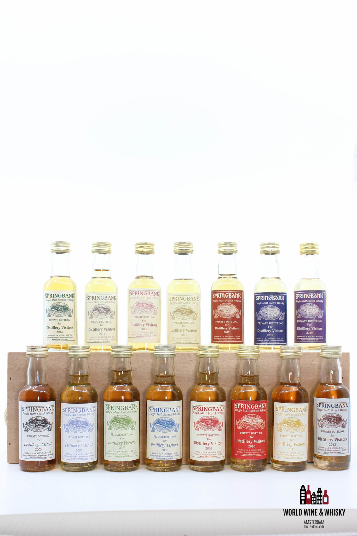 Springbank Full set Springbank Private Bottling for Distillery Visitors 2005 to 2019 (15 bottles)