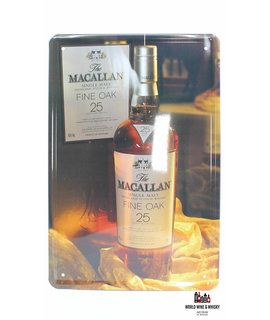 Macallan Iron Macallan billboard plate - 25 Years Old Fine Oak