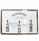 Bowmore Iron Bowmore billboard plate - Islay Single Malt Scotch Whisky 12, 15, 18 Years Old