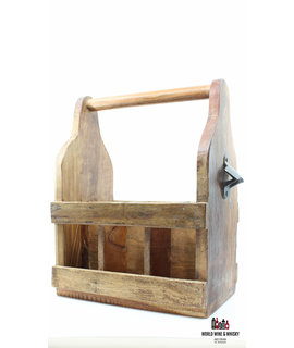 Giftbox Handmade wooden beer/wine crate (for 6 bottles)
