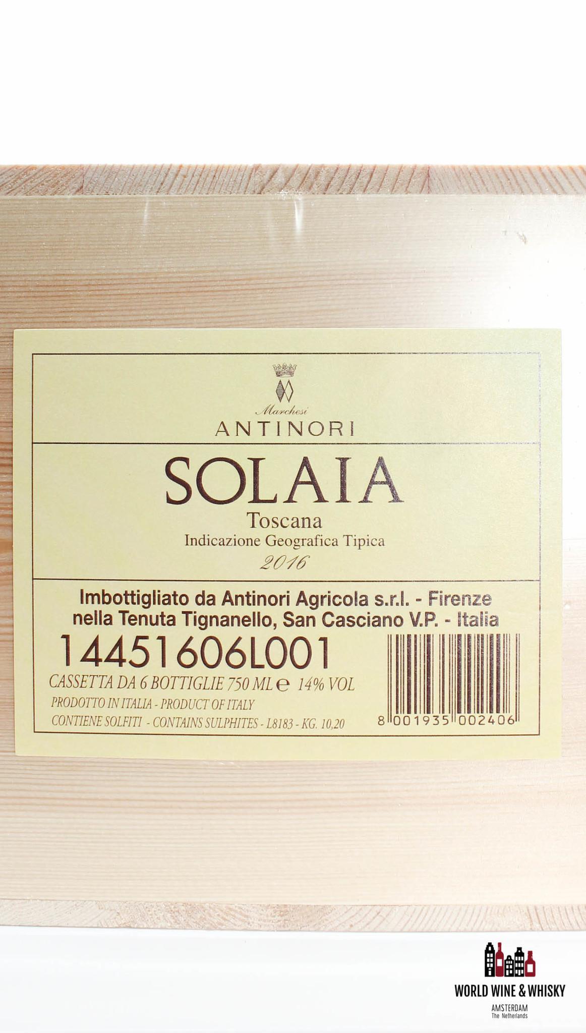 Solaia Antinori Solaia Marchesi Antinori 2016 (in OWC)
